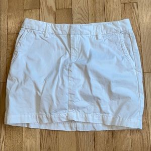Gap white cargo mini skirt